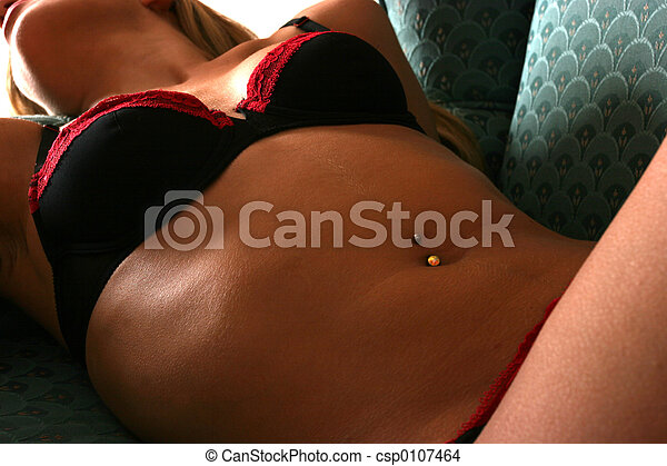 Woman laying in her lingerie - csp0107464