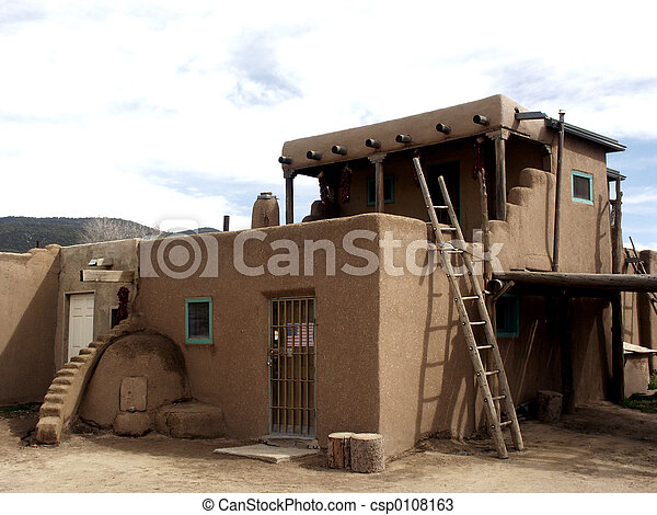 Stock Photos of Ladders and Steps - Adobe construction in Taos ...