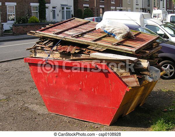 skip of rubbish - csp0108928