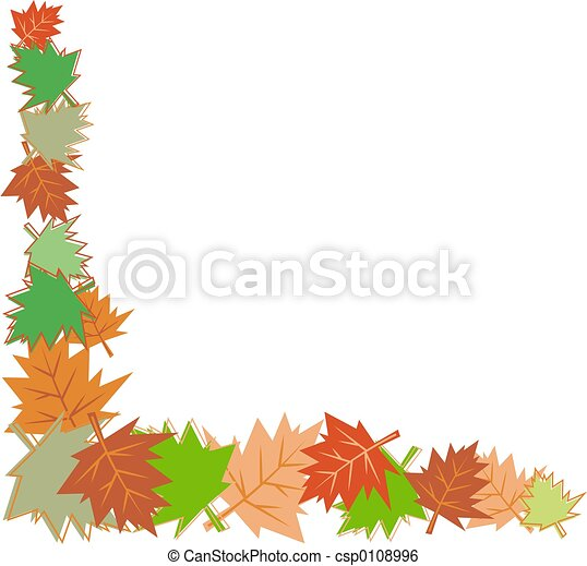 fall leaves border - csp0108996
