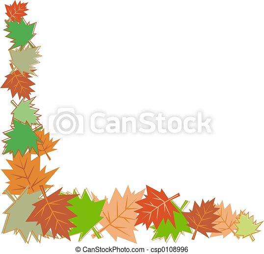 fall leaves border - csp0108996