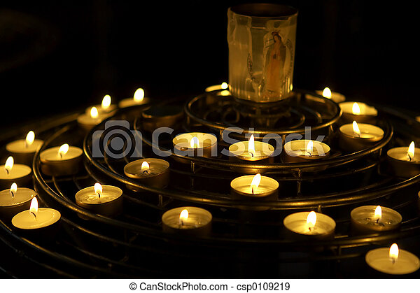 velas, oração - csp0109219