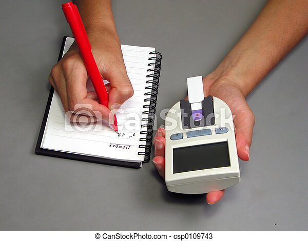 Recording glycaemia - csp0109743