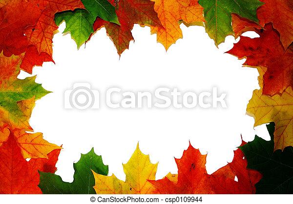 automne, feuilles - csp0109944