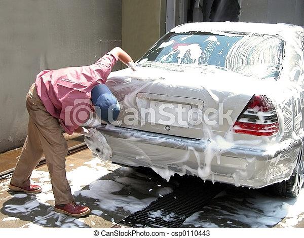 voiture, nettoyage, homme - csp0110443