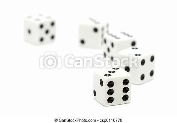dice macro highkey over white - csp0110770