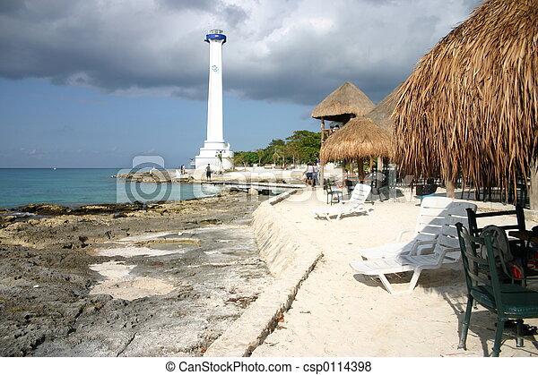 lighthouse on Cozumel - csp0114398