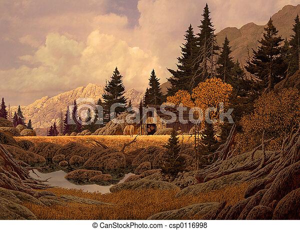 Mountain Barn - csp0116998