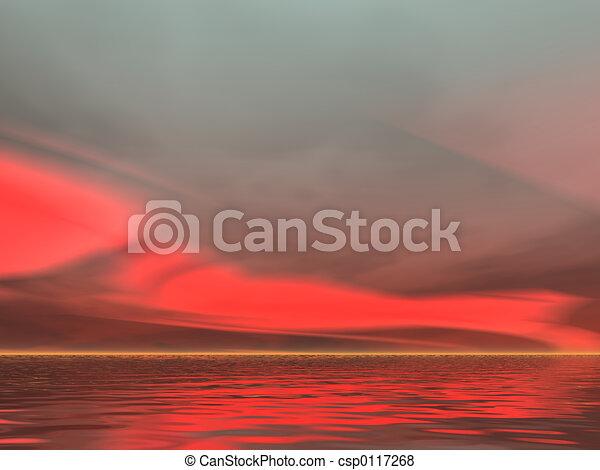 Serious Red Sunrise - csp0117268