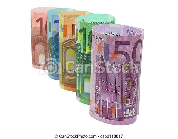 Euro notes in a row - csp0118817