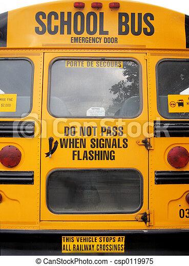 scuola, autobus - csp0119975