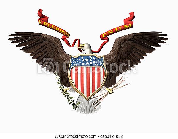 United states seal, E pluribus unum. - csp0121852
