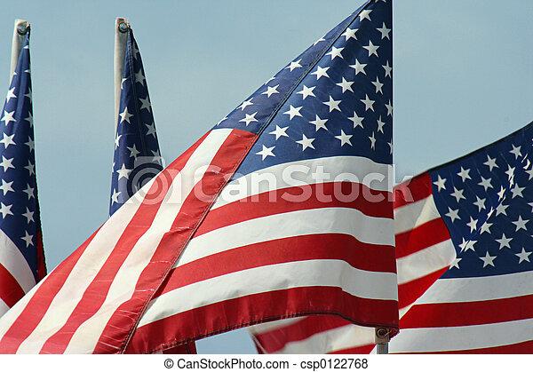 Four U.S. Flags - csp0122768