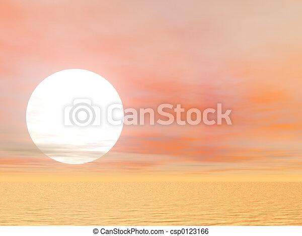 Bright Desert Sun - csp0123166