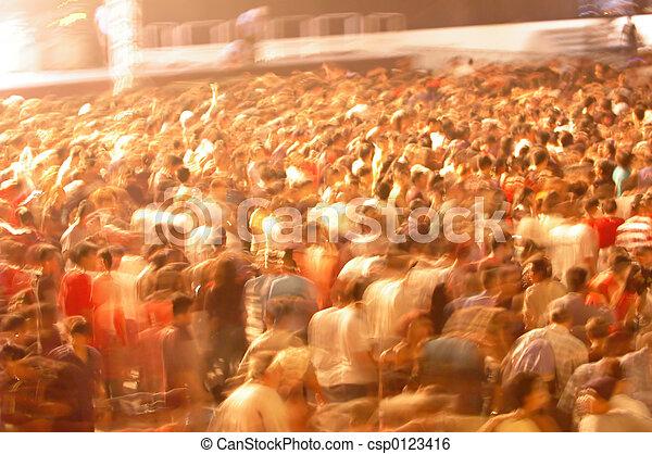 motion blur of crowd