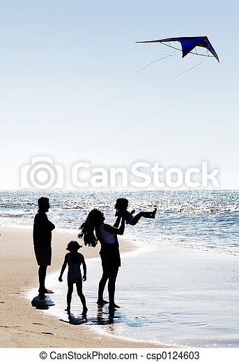 Family and a kite - csp0124603