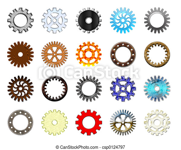 Gears collection #1. - csp0124797