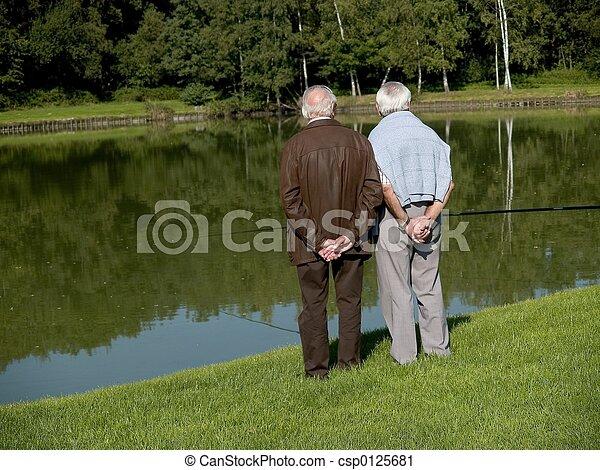 seniors., nonni - csp0125681