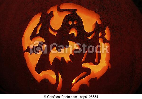 stock photo of pumpkin carving carved pumpkin showing. Black Bedroom Furniture Sets. Home Design Ideas