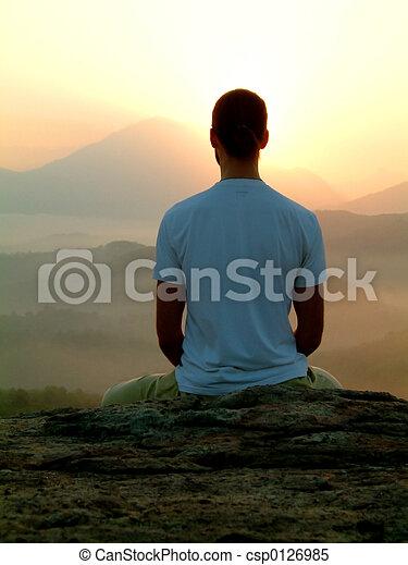 sunrise meditation - csp0126985
