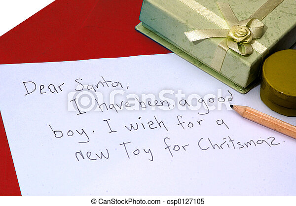 Dear Santa letter - csp0127105