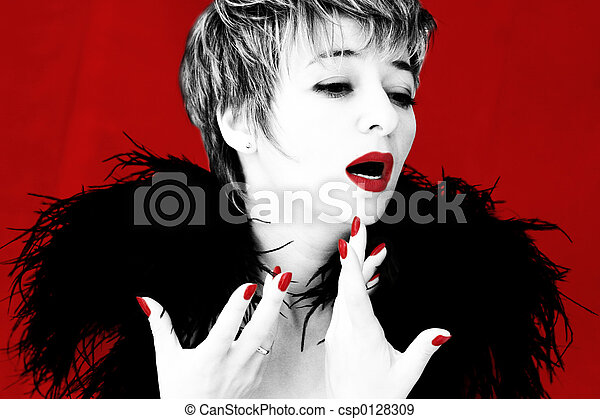 Dramatic singer - csp0128309