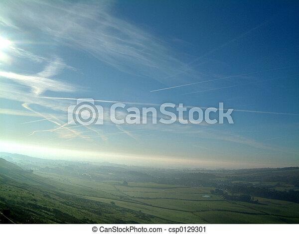 Airplane trails - csp0129301