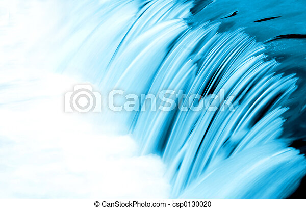 azul, água, fluxo, detalhe - csp0130020