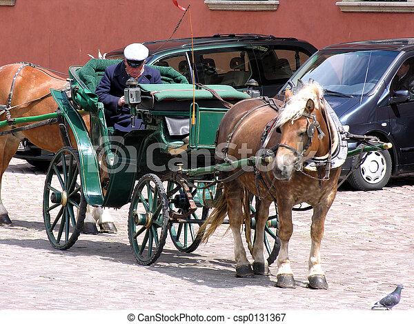 Horse carriage - csp0131367