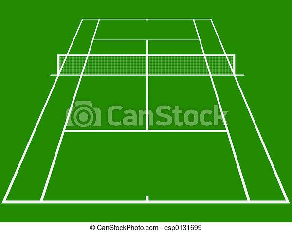 Tennis court - csp0131699