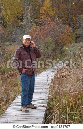 man in wilderness 228 - csp0131707