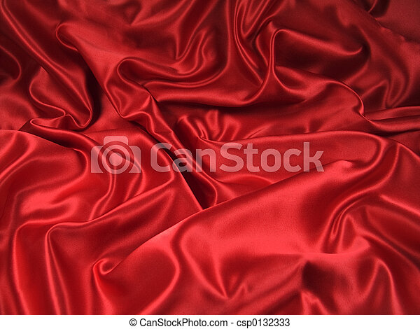 Red Satin Fabric 2 - csp0132333