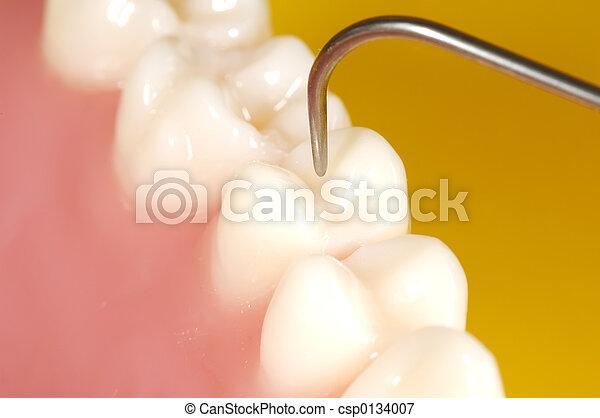 dentaire, examen - csp0134007