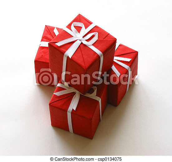 Red gift boxes - csp0134075