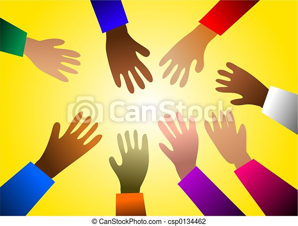 colourful hands - csp0134462