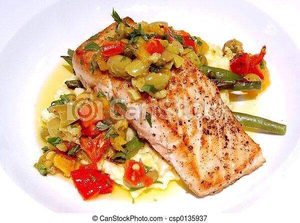Gourmet Salmon Meal - csp0135937