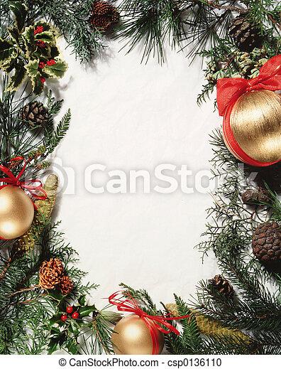 ornamento, navidad - csp0136110