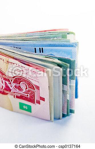 Large Canadian fold of money - csp0137164