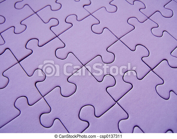 Purple jigsaw - csp0137311
