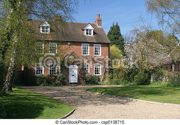 casa, distaccato, storico, villaggio - csp0138715