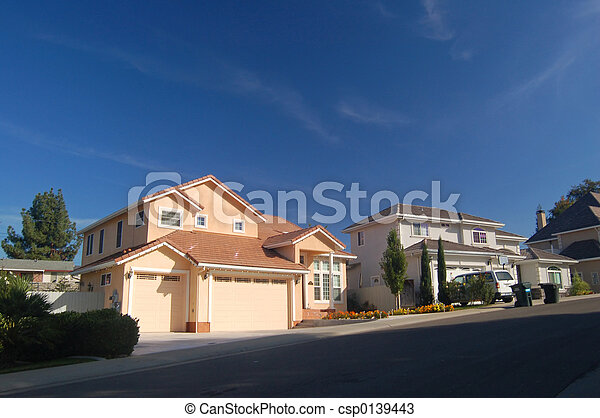 Houses in the suburbs - csp0139443