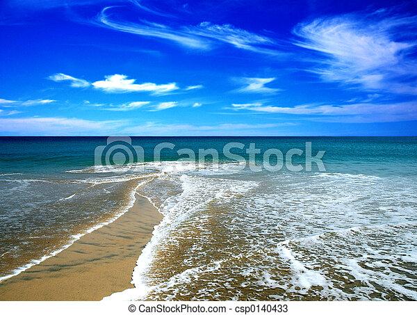sommer, sandstrand - csp0140433