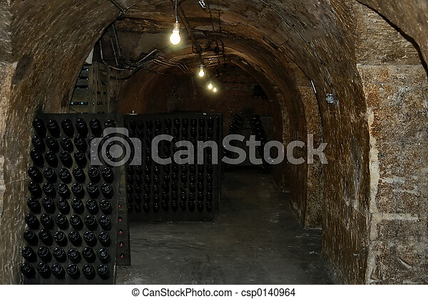 French wine-cellar  - csp0140964