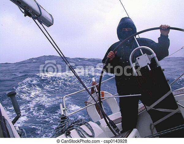 sailing with rain - csp0143928