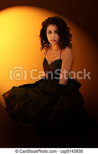 Girl in spotlight - csp0143938