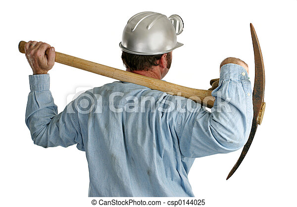 Coal Miner With Pickax - Back1 - csp0144025