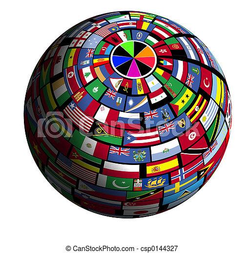 erde,  flag-covered,  polar1,  -, Ansicht - csp0144327