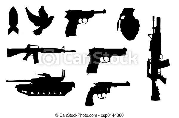 Gun silhouettes - csp0144360