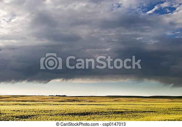 Prairie Sky Landscape - csp0147013