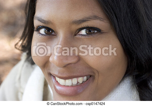 sorrindo, mulher - csp0147424